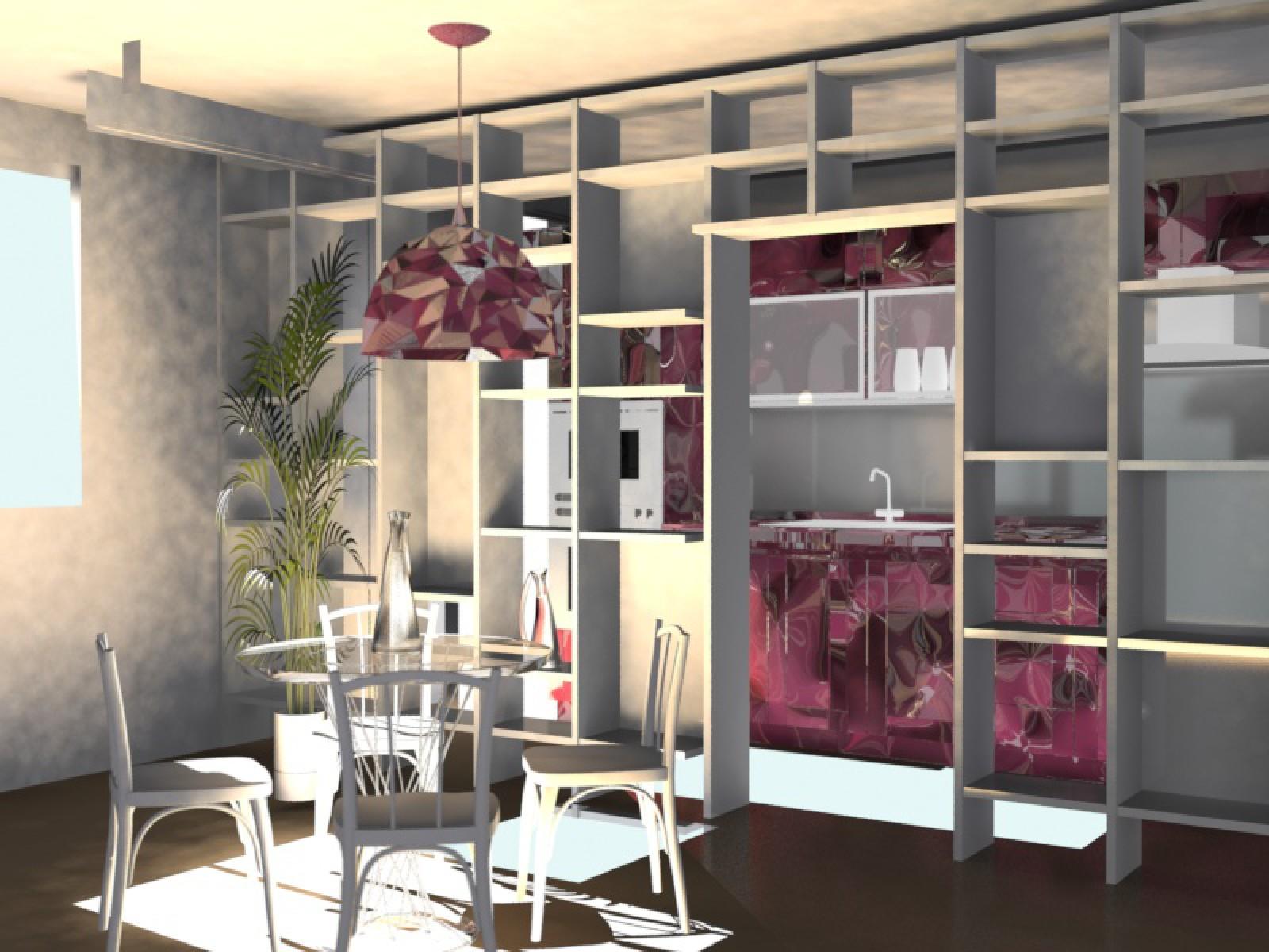 Divisori per ambienti la libreria studio di for Mobili divisori design