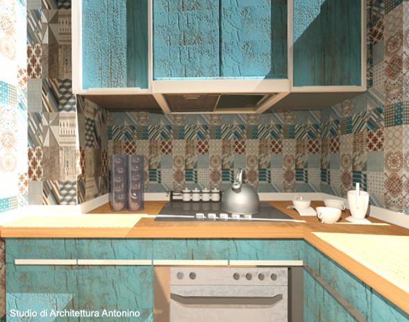 cucina country design - Studio di architettura Antonino