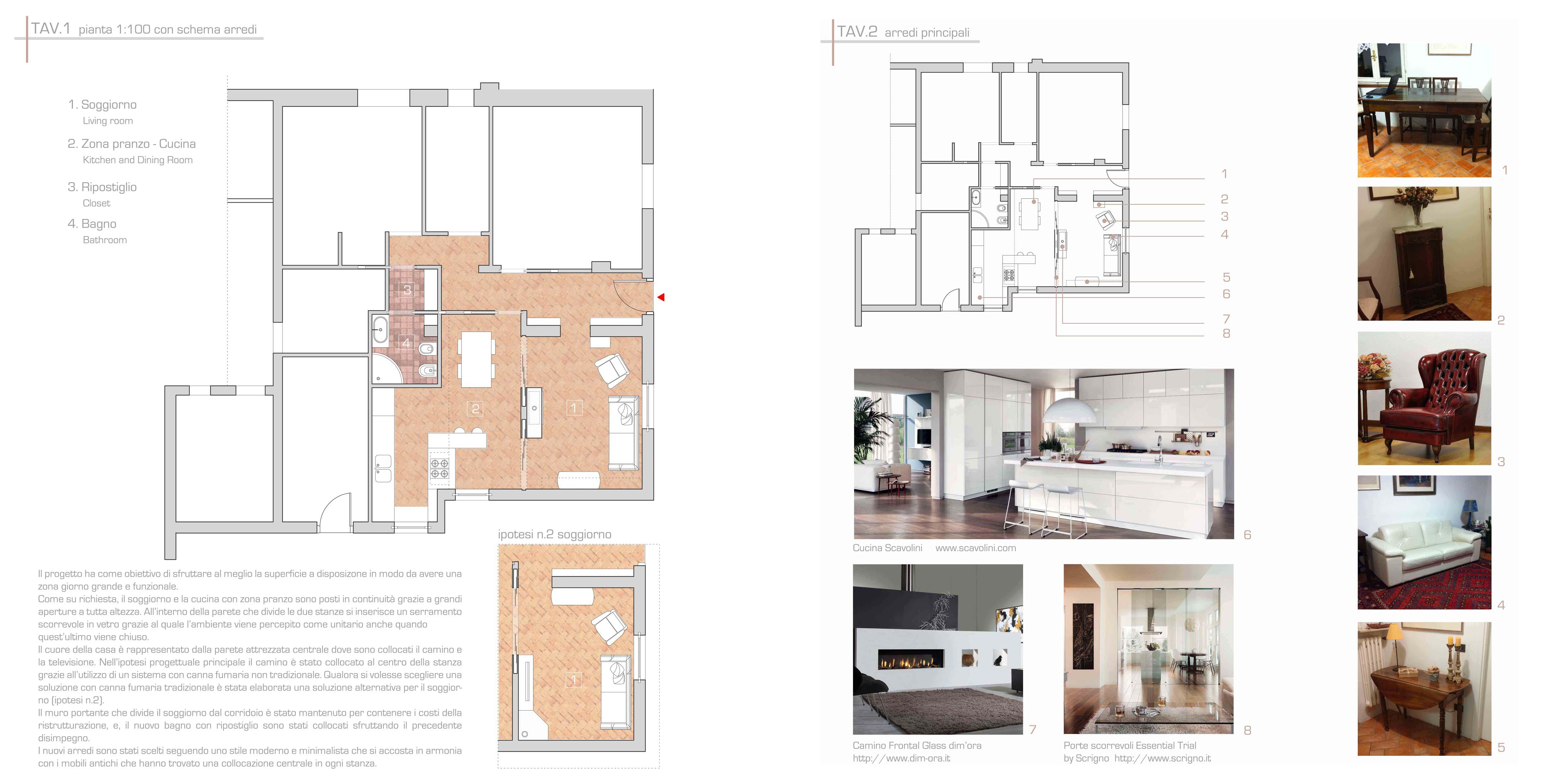 Una nuova zona giorno studio di architettura antonino for Progetto zona giorno